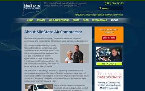 Screenshot of About Page midstateaircompressor.com - About MidState Air Compressor - captured Nov. 3, 2014