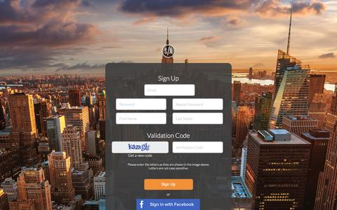 Screenshot of Signup Page socialarcadeapp.com - Social Arcade - Sign Up - captured Jan. 23, 2016