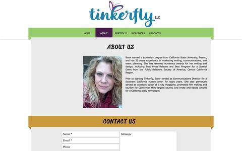 Screenshot of About Page tinkerfly.com - ABOUT US | Tinkerfly Marketing & Events - captured Sept. 21, 2018
