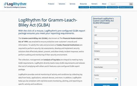 LogRhythm for Gramm-Leach-Bliley Act (GLBA) | LogRhythm