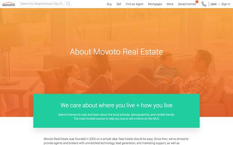 Screenshot of About Page Contact Page movoto.com - Movoto - Real Estate Made Easy - captured Sept. 20, 2018