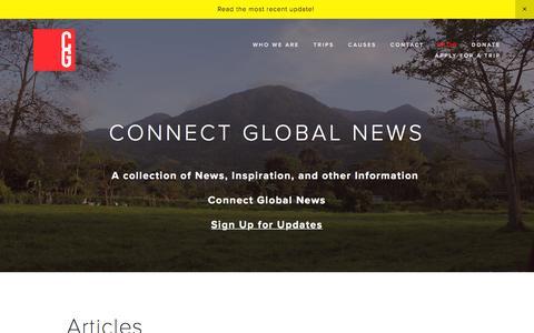 Screenshot of Blog goservechange.com - Connect Global News — Connect Global - captured Jan. 30, 2016