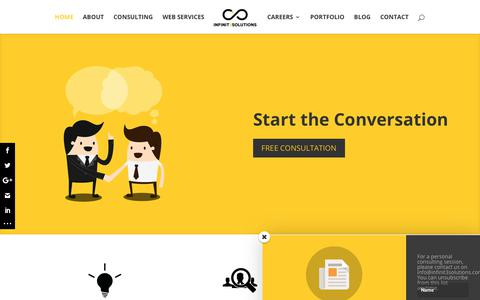 Screenshot of Home Page infinit3solutions.com - Infinit3solutions | Marketing and Consulting Agency in Manila, Philippines - captured Sept. 13, 2018