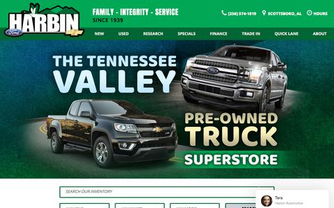 Screenshot of Home Page harbinautomotive.com - Chevrolet Dealership Scottsboro AL | Used Cars Harbin Automotive - captured July 16, 2018