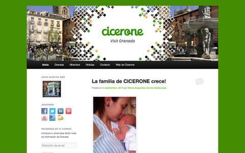 Screenshot of Blog ciceronegranada.com - Blog Cicerone Granada | Nuestro punto de encuentro con las curiosidades de Granada - captured Sept. 29, 2014