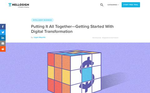 Screenshot of Blog hellosign.com - Putting It All Together—Getting Started With Digital Transformation - HelloSign Blog - captured Feb. 21, 2020