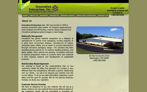 Screenshot of About Page innovative-1.com - About Us - captured Oct. 6, 2014