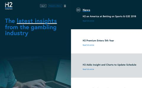 Screenshot of Press Page h2gc.com - News | H2 Gambling Capital - captured Dec. 13, 2018