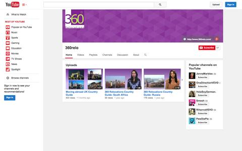 Screenshot of YouTube Page youtube.com - 360relo  - YouTube - captured Oct. 26, 2014