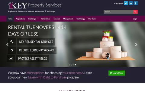 Screenshot of Home Page keyco.com - Key Property Services - captured Feb. 12, 2016