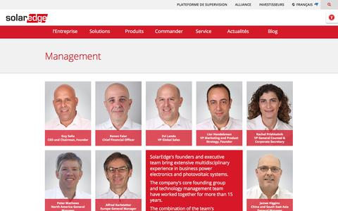 Screenshot of Team Page solaredge.com - Management | SolarEdge - captured Nov. 13, 2017