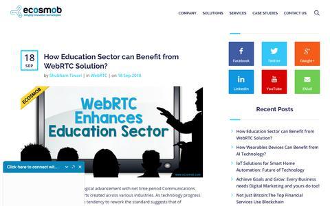 Screenshot of Blog ecosmob.com - Blog - Ecosmob Technologies Pvt. Ltd. - captured Sept. 27, 2018