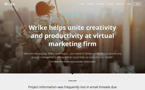 VOCO Creative Success Story | Wrike Customers