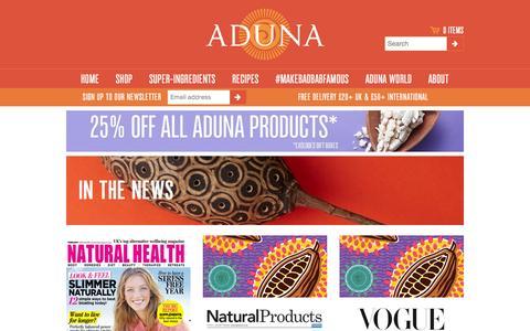 Screenshot of Press Page aduna.com - In the News – Aduna - captured Feb. 24, 2016