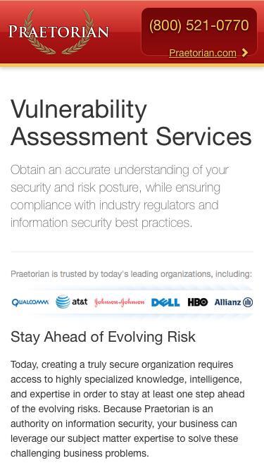 Vulnerability Assessment Services |  Praetorian