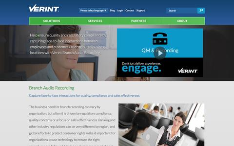 Recording Solutions | Verint Systems