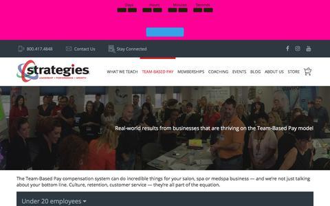 Screenshot of Case Studies Page strategies.com - Team-Based Pay Case Studies for Salons, Spas & Medspas - captured July 24, 2018