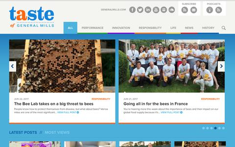 Screenshot of Blog generalmills.com - A Taste of General Mills | The official General Mills blog, featuring news and information about the company. - captured July 4, 2017