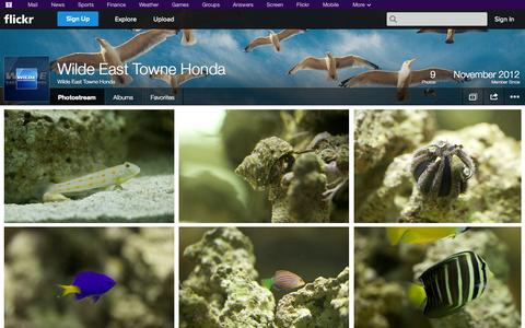 Screenshot of Flickr Page flickr.com - Flickr: Wilde East Towne Honda's Photostream - captured Oct. 26, 2014