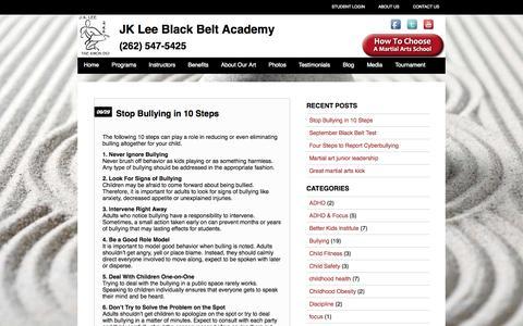 Screenshot of Blog jkleeblackbelt.com - Blog - JK Lee Martial Arts Academy - captured Oct. 3, 2014