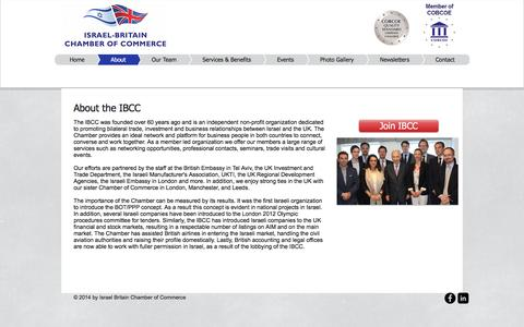 Screenshot of About Page ibcc.org.il - UK Chamber of Commerce - captured Nov. 26, 2016