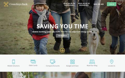 Screenshot of Home Page ckbonline.com - Home › Cross Keys Bank - captured Feb. 1, 2016