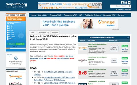 Screenshot of Home Page voip-info.org - voip-info.org - voip-info.org - captured June 20, 2017