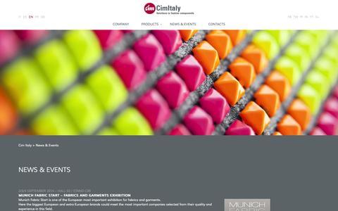 Screenshot of Press Page cim-italy.com - Fashion Solution | Studs | Eyelets | Cim Italy - captured Oct. 27, 2014