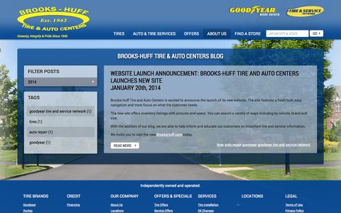 Screenshot of Press Page brookshuff.com - Blog - Tires and Auto Repair Service - MD and PA  Brooks-Huff Tire & Auto Centers - captured Oct. 5, 2014
