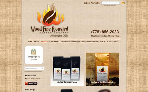 Screenshot of Products Page woodfireroasted.com - Products - Wood-Fire Roasted Coffee Company - captured Dec. 3, 2018
