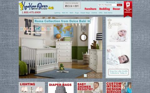 Screenshot of Home Page kookoobearkids.com - KooKoo Bear Kids | Baby Furniture | Youth Furniture | Bedding | Room Decor - captured Oct. 6, 2014