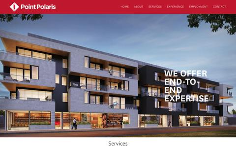 Screenshot of Services Page pointpolaris.com.au - Services – Point Polaris - captured Aug. 14, 2017
