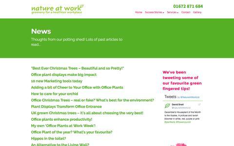 Screenshot of Press Page nature-at-work.co.uk - News - Nature at Work - captured Dec. 1, 2016