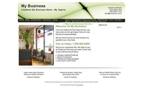 Screenshot of Home Page hagzinc.com - My Business - captured July 10, 2016