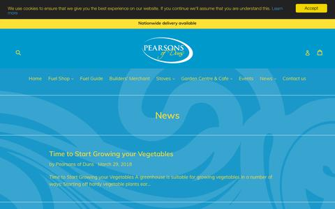 Screenshot of Press Page pearsonsofduns.co.uk - News                      – Pearsons of Duns - captured Sept. 27, 2018