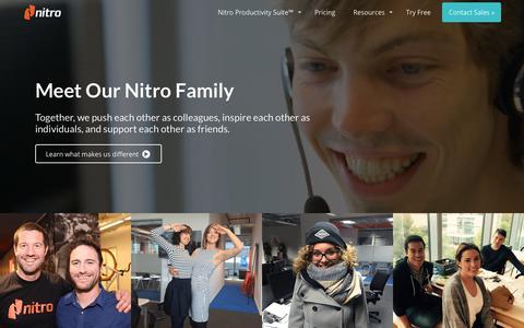 Screenshot of Team Page gonitro.com - Team | Nitro - captured May 19, 2019