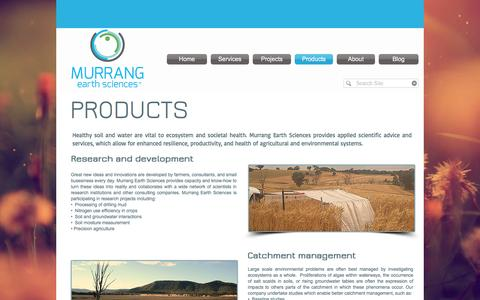 Screenshot of Products Page murrang.com.au - Murrang Earth Sciences - Products - captured Dec. 6, 2016