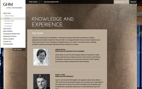 Screenshot of Team Page ghmhotels.com - Team | Luxury Hotel Resorts | GHM Hotels - captured Sept. 23, 2014