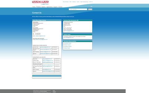 Screenshot of Contact Page aanderaa.no - Contact Us - captured Oct. 4, 2014