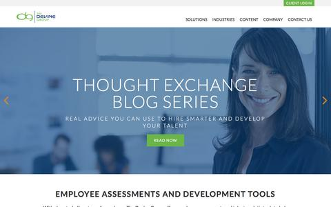 Screenshot of Home Page devinegroup.com - The Devine Group - Employee Assessments & Talent Analytic Tools - captured Dec. 14, 2016
