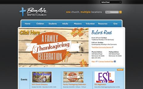 Screenshot of Locations Page bonairbaptist.org - Bon Air Baptist Church | Buford Road - captured Nov. 23, 2016