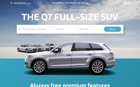 Screenshot of Pricing Page silvercar.com - Silvercar: Car Rental with No Lines & Free Premium Features - captured Feb. 22, 2019