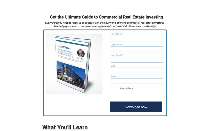 Download a free 176 page CRE Investing eBook