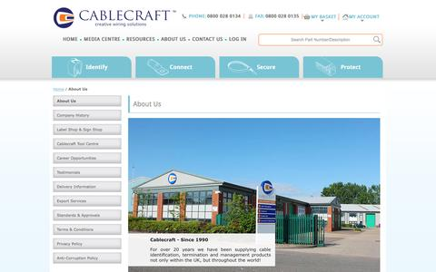Screenshot of About Page cablecraft.co.uk - Cablecraft - captured Oct. 1, 2014