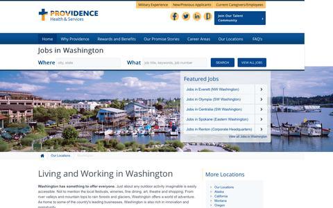 Screenshot of Home Page providence-washington.jobs - Providence Washington Jobs - captured Sept. 3, 2015