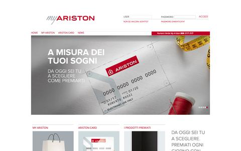 Screenshot of Signup Page ariston.com - Pages  			- HomePage - captured March 30, 2018