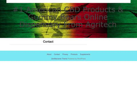 Screenshot of Contact Page americanagritech.com - Contact - #1 American CBD Products & Gummy Bears Online Dispensary From Agritech - captured March 31, 2019