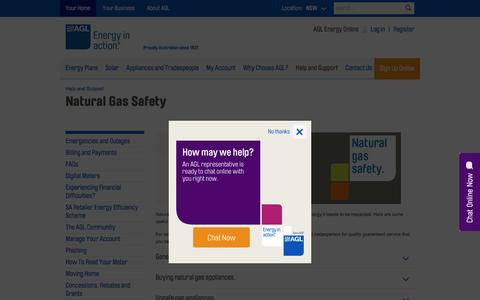 Natural Gas Safety  | AGL