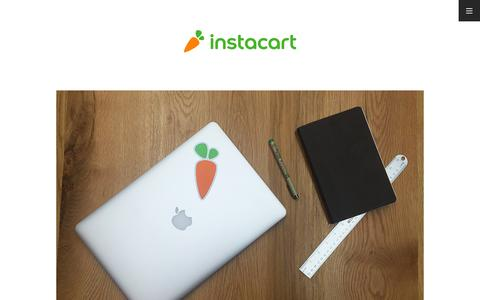 Instacart – Groceries delivered in as little as an hour.