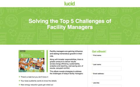 Screenshot of Landing Page lucidconnects.com - Top 5 Challenges of Facility Managers - captured Oct. 20, 2016